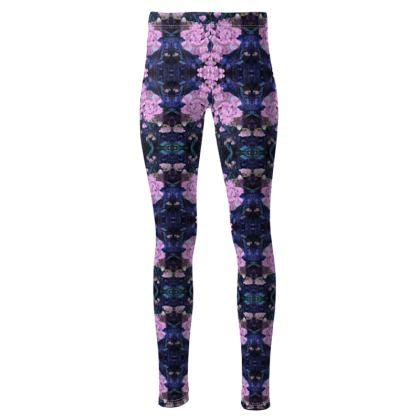 High waisted pink drop leggings