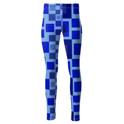 High waisted l blue squared leggings