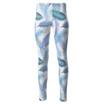 High waisted leaf leggings