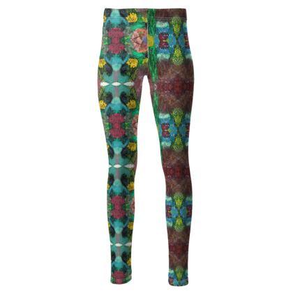 High waisted garden leggings