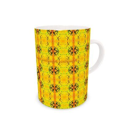 Porzellantasse, Porzellanbecher, Kaffeebecher (schmal, hoch) im orchid yellow ninibing34 DESIGN