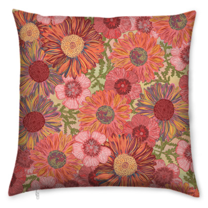 A Daisy Day (Summer Pink) Cushion