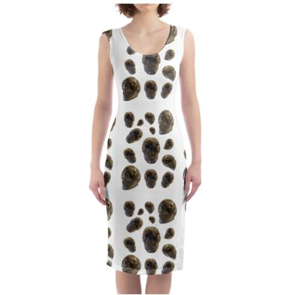 Crystal Skull Warrior Princess Bodycon Dress