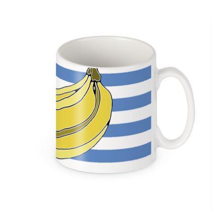 Banana stripe mug