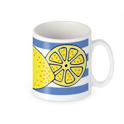 Lemon stripe mug