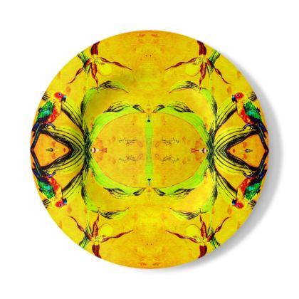 Wandteller, Servierteller 27,5 cm aus Stonemax, ninibing34 ORCHID YELLOW