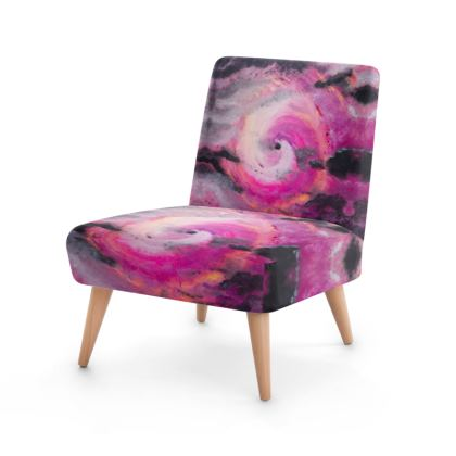 Pink Vortex Design Occasional Chair
