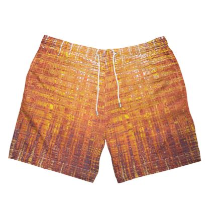 Mens Swimming Trunks fireworks print