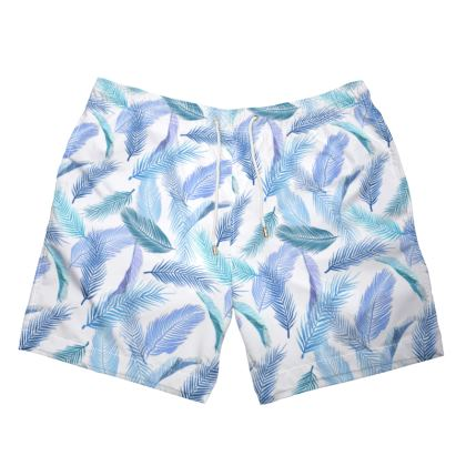 Mens Swimming Trunks leaf print