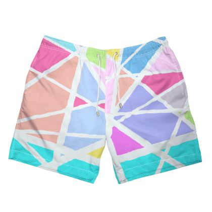 Triangular Printed Swimming Trunks