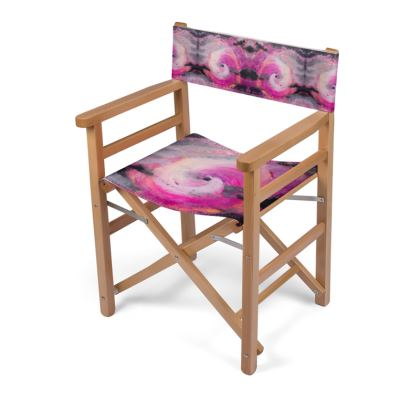 Pink Vortex Design Directors Chair