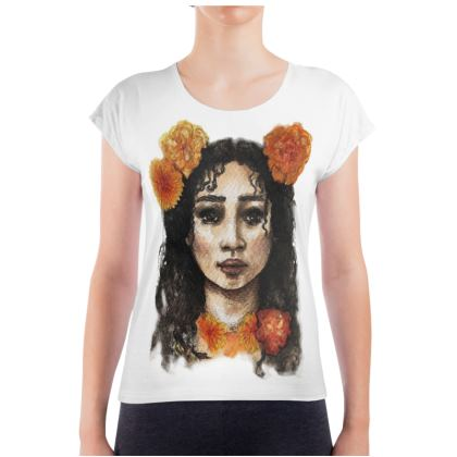 A Year in Flowers - Marigolds Ladies T Shirt