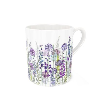 Bone China Mug - Purple Rapture