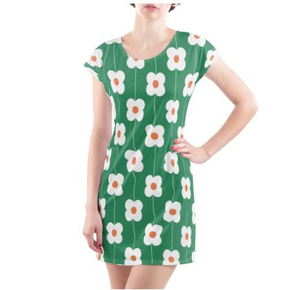 Ladies Tunic T Shirt - Green and simple