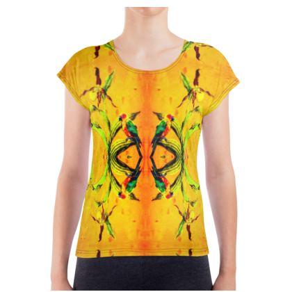 Ladies luxury Damen T-Shirt 2 XL Orchid Yellow Kurzarm