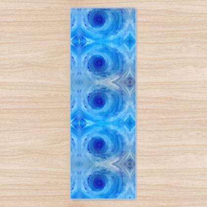 Blue Vortex Yoga Mat