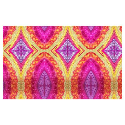 Neon Tara Design Zip Top Handbag