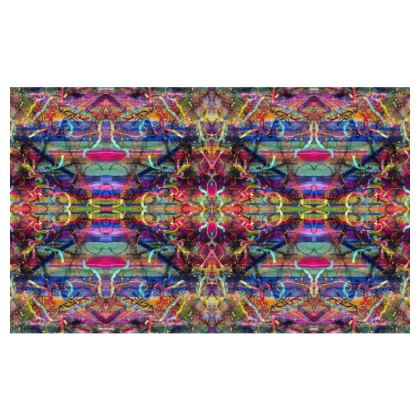 Ribbon Mandala Design Zip Top Handbag