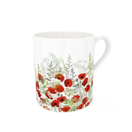 Bone China Mug - Poppy Field