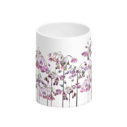 Allium Bells Tall Bone China Mug