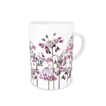 Tall Bone China Mug - Allium Bells