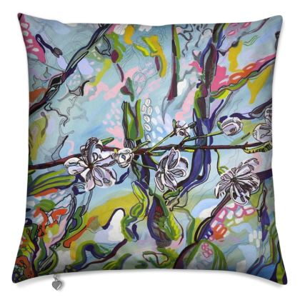 Blue Blossom Cushion