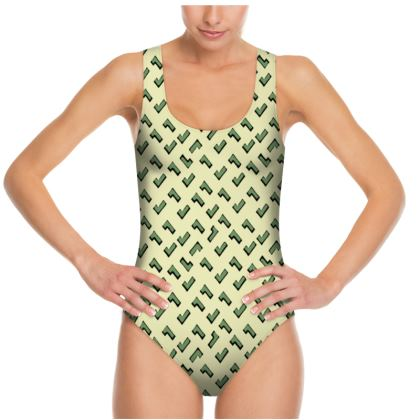 Cartoon Kid Swimsuit in Army Camouflage