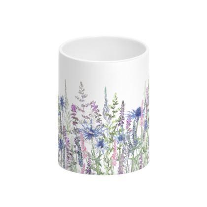 Fairytale Meadow Tall Bone China Mug