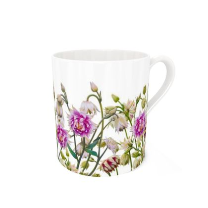 Bone China Mug - Aquilegia