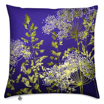 Midnight Florets Cushion