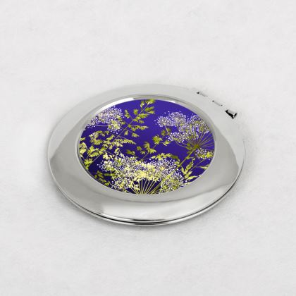 Midnight Florets Compact Mirror