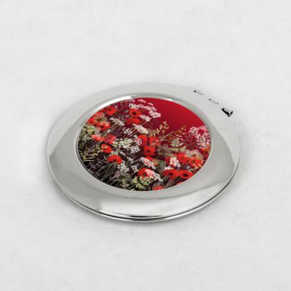 Poppy Field at Sunset Compact Mirror