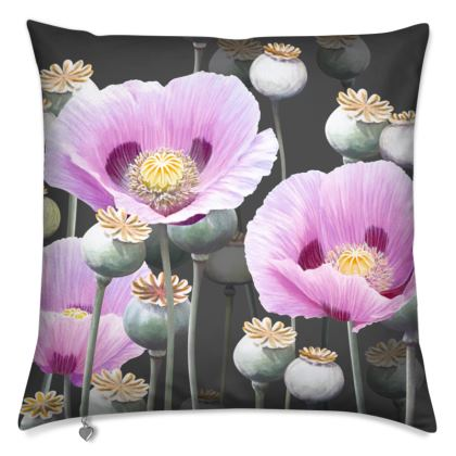 Dusky Poppies Cushion