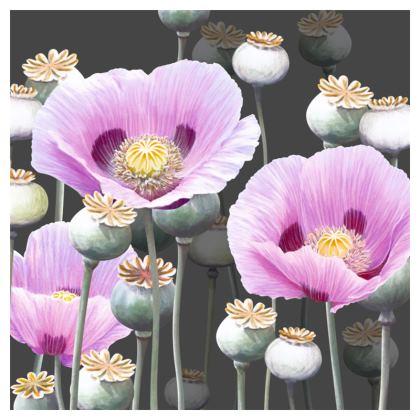 Dusky Poppies Cushion
