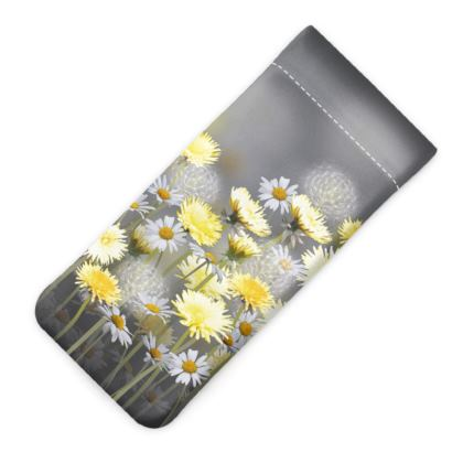 Dandelion and Daisy Meadow Glasses Case Pouch