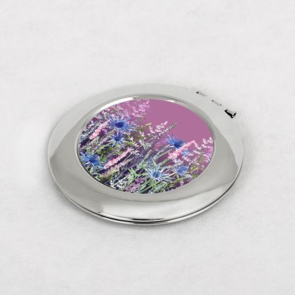 Fairytale Sunset Meadow Compact Mirror