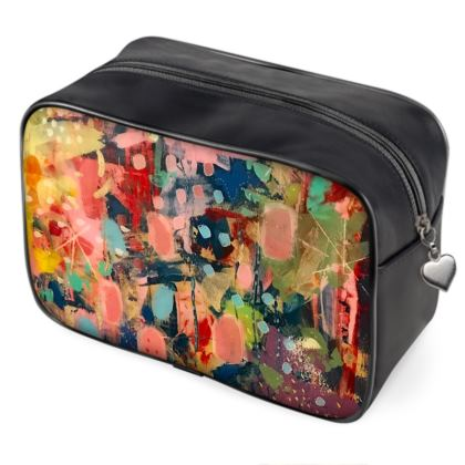 WILD CANDY Leather Wash Bag by Rachel Rosa ART