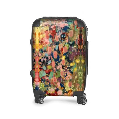 WILD CANDY Suitcase by Rachel Rosa ART