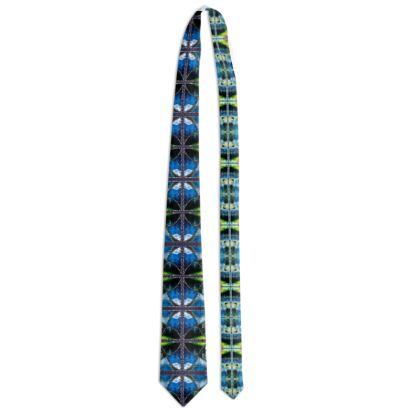 102,- ninibing34 DESIGNER Krawatte blue water AUSTRIA
