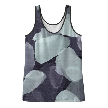 Night Petals Print Ladies Vest Top
