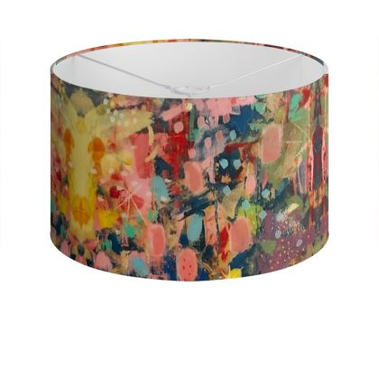 WILD CANDY Drum Lamp Shade by Rachel Rosa ART