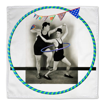 Laurel and Hardy Hoop with a Kingfisher Napkins