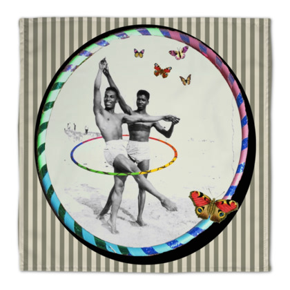 Ballet Hooping on the Beach Napkins