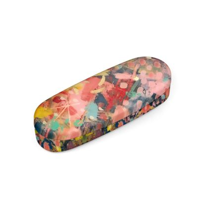 WILD CANDY Hard Glasses Case by Rachel Rosa ART
