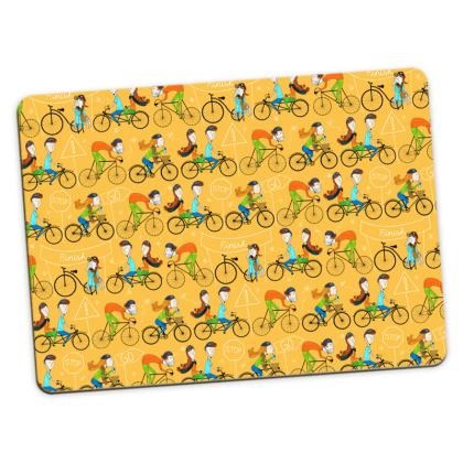 Pattern #81 - I love cycling! Large Placemats