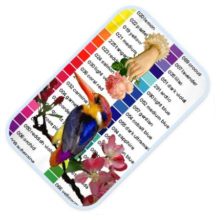 Colour Chart and Kingfisher Baby Changing Mat