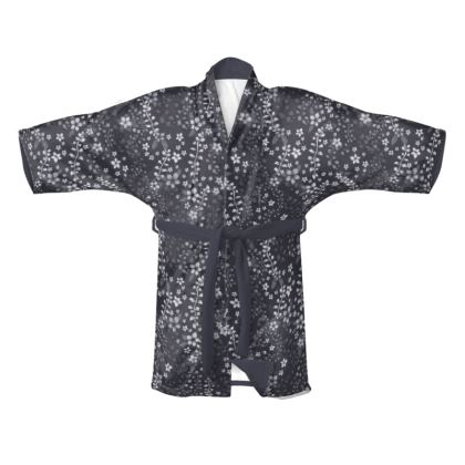 Kimono - Night Blue, with dark purple belt