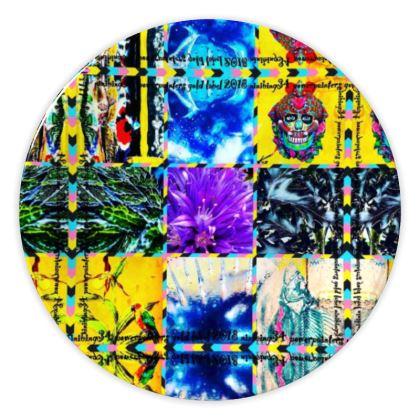 € 49,- China plate Keramik 20 cm, Groceries Scull