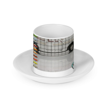 Car Colour Chart Cup and Saucer