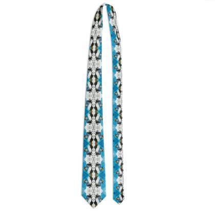 102,- #ninibing34 Designer Krawatte überaus elegant von ninibing34. Beautiful men with MONTENEGRO BLUE I